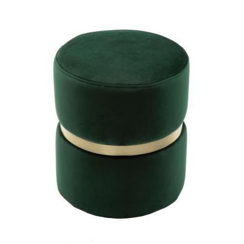 Yamma Forest Green Velvet Ottoman