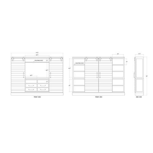 Gallery - Sonoma Entertainment Cabinet (83 x 114 x 19)