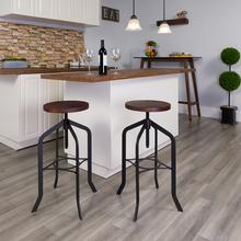 """See Details - 30"""" Barstool with Adjustable Wood Seat"""