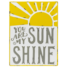 """See Details - """"You Are My Sunshine"""" Enamel Wall Decor"""