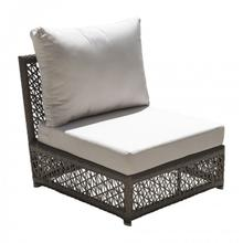 Maldives Modular Armless Chair w/off-white cushion