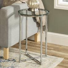 View Product - Alissa Side Tables - Chrome and Glass