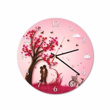 Couple Bike Round Acrylic Wall Clock