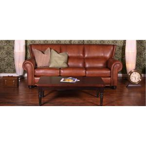 """Windsor Sofa with decorative nails 5/8"""" (#54) Antique Gold."""