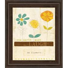 """Laugh In Flowers"" By Mollie B Framed Print Wall Art"