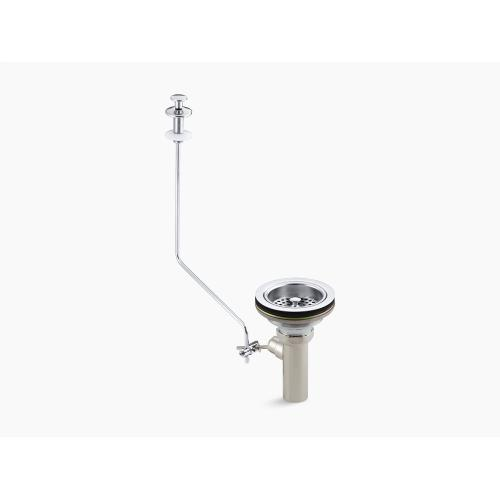 Polished Chrome Sink Strainer With Tailpiece and Pop-up Drain