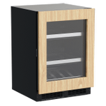 MARVEL24-In Professional Built-In Beverage Center With Reversible Hinge with Door Style - Panel Ready Frame Glass