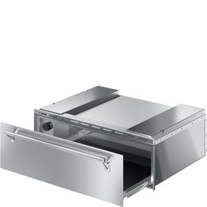 """SmegFood and Dish Warming Drawer for Compact Ovens, 30"""" (76cm). Finger-proof Stainless Steel Classic Aesthetics"""