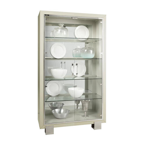 Cydney Contemporary 5 Shelf Curio with Touch Lighting