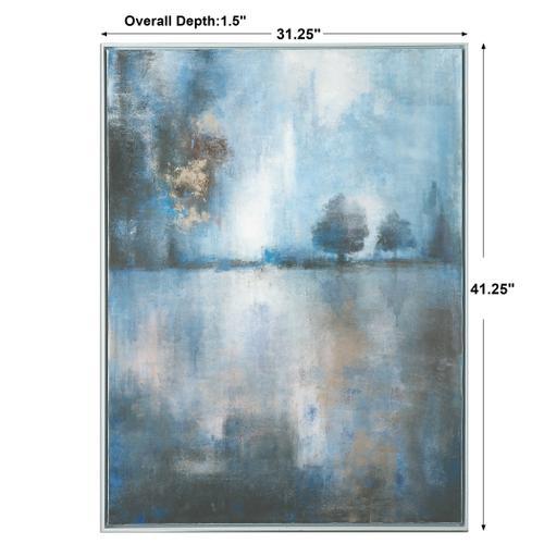 Lake At Dusk Hand Painted Canvas