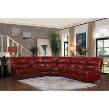 See Details - 4-Piece Modular Power Reclining Sectional with Left Console and LED