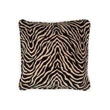Toss Pillow with a Black Animal Print