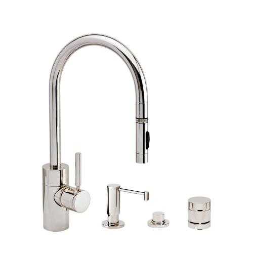 Contemporary PLP Pulldown Faucet 4pc. Suite - 5400-4 - Waterstone Luxury Kitchen Faucets
