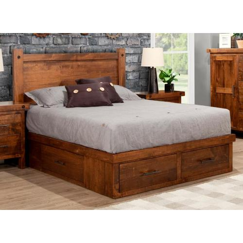 Handstone - Rafters 4 Drawer King Condo Bed (2 on end/1 each side)