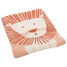 Dandy Lion Throw - Orange / Natural