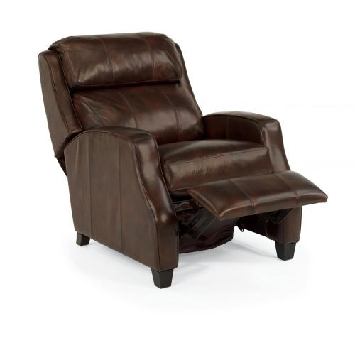 Gallery - Pirouette Leather High-Leg Recliner