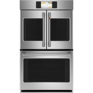 "CafeProfessional Series 30"" Smart Built-In Convection French-Door Double Wall Oven"