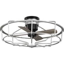 "Loring Collection 33"" Four-Blade Galvanized Ceiling Fan"