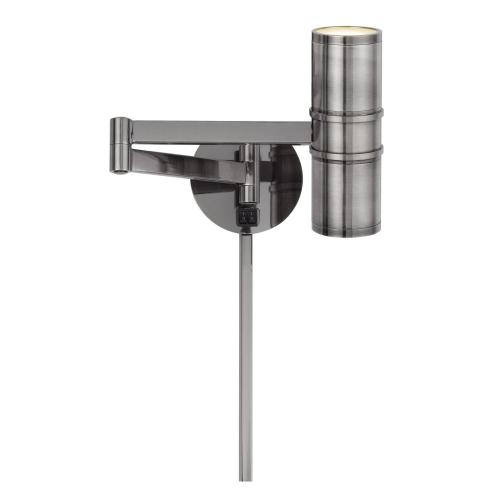 LED 7W (Bottom) Wall Swing Arm Reading Lamp With 2W Night Light On Top. 3 Ft Wire Cover included