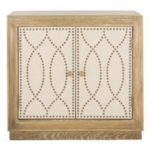 See Details - Yuna 2 Door Chest - Rustic Oak / Copper / Mirror