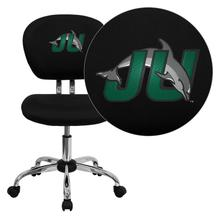 Jacksonville University Dolphins Embroidered Black Mesh Task Chair with Chrome Base