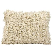 "Shag Dl658 Beige 14"" X 20"" Throw Pillow"
