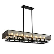 See Details - Ghost Rectangle Chandelier - Architectural Bronze Powder Coat