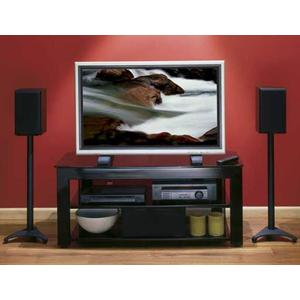 Black Widescreen TV/AV Stand Rigid strength and contemporary design in an affordable package