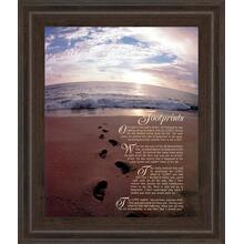 """Footprints"" Framed Print Wall Art"