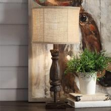 Wooden Relic Table Lamp