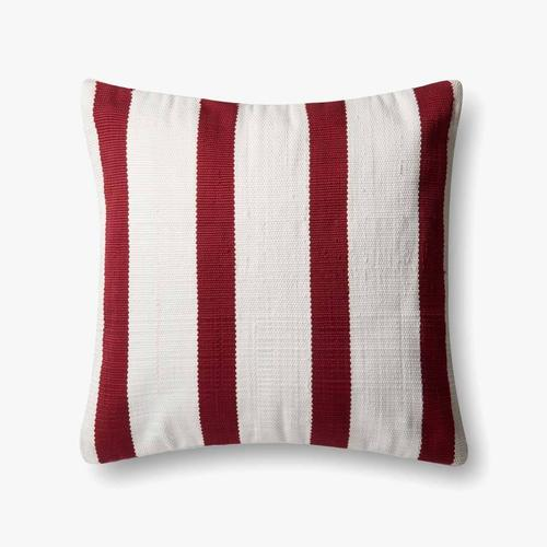 P0507 In/out Red / Ivory Pillow