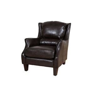Garnett Espresso Leather Accent Chair, ACL519