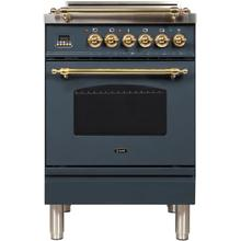 "24"" Inch Blue Grey Natural Gas Freestanding Range"