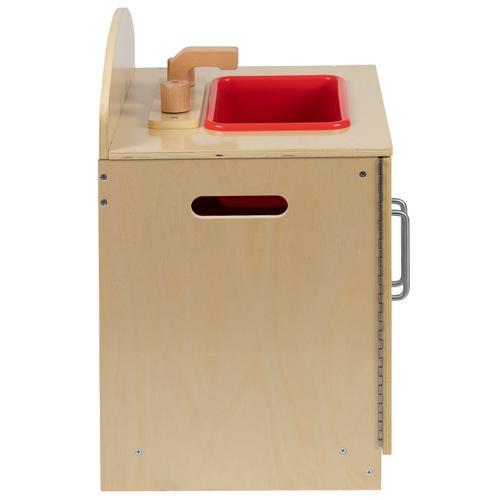 Flash Furniture - Children's Wooden Kitchen Sink for Commercial or Home Use - Safe, Kid Friendly Design