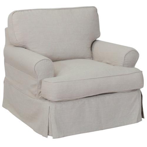 Horizon Slipcovered Chair and Ottoman - 220591