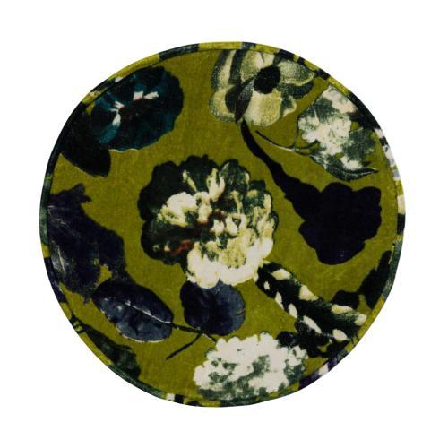 Rhapsody Floral Velvet Pouf