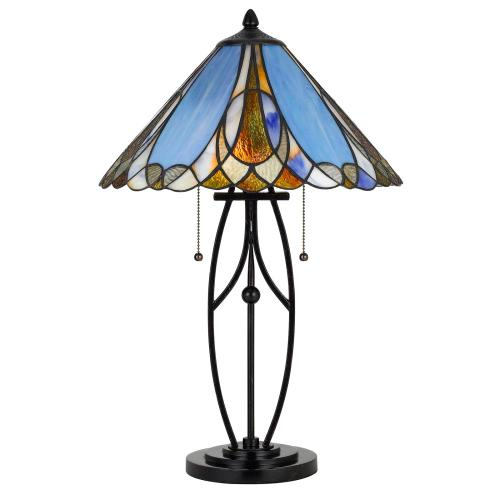 60W X 2 Tiffany Table Lamp