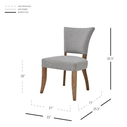 Austin Fabric Dining Side Chair, Cardiff Gray