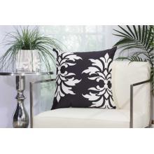 """Outdoor Pillows As065 Black 20"""" X 20"""" Throw Pillow"""