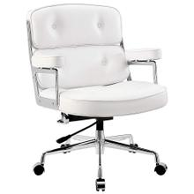 Kneeling Chair with Memory Foam Mahogany Wooden Frame - White
