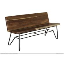 View Product - Solid wood Bench w/ Back Rest