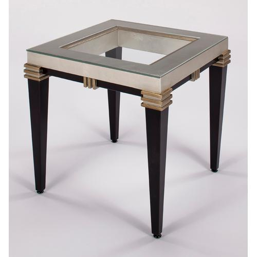 """End Table with Glass 24x24x26"""""""