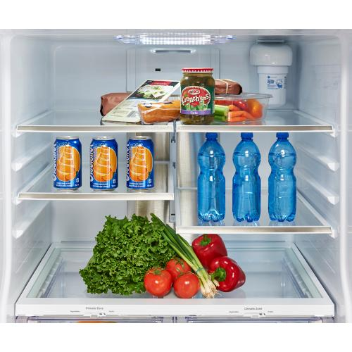 GE Profile 23.5 Cu. Ft. Energy Star French Door Refrigerator with Space Saving Icemaker Stainless Steel - PFE24HSLKSS