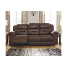 Stoneland Reclining Power Sofa Chocolate