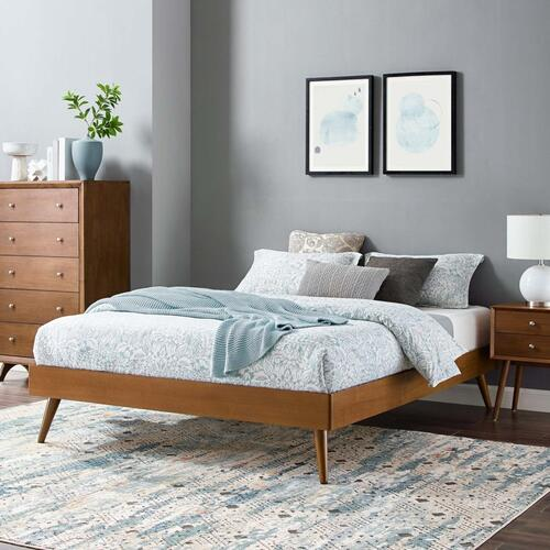Margo Full Wood Platform Bed Frame in Walnut