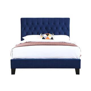 Amelia King Bedframe Navy