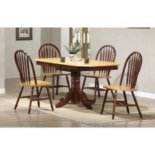 DLU-TCP3660-820-NLO5PC  5 Piece Pedestal Extendable Dining Set  Arrowback Chairs
