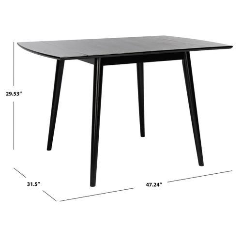 Kaylee Extension Dining Table - Matte Black