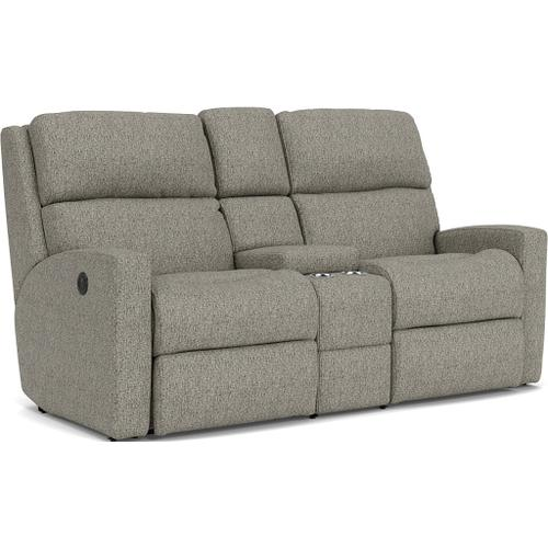 Flexsteel - Catalina Power Reclining Loveseat with Console