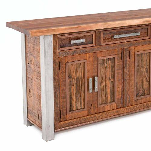 Harvest Buffet With Walnut Free Form Top